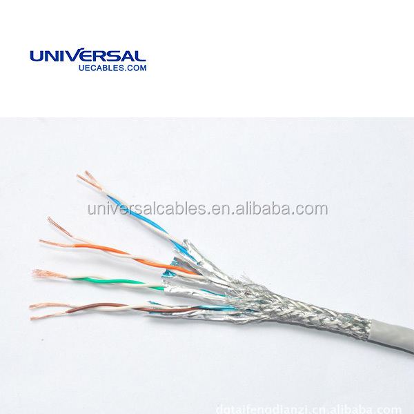 Lan Cable Cat5 0.22mm2 Tinned Copper Wire Braid Screen Marine Cable