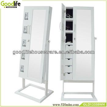 2 Door Big Mirrored Jewelry Cabinet With Photo Frames - Buy 2 Door ...