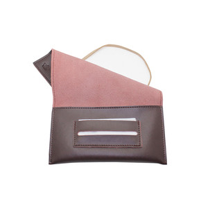 Newest generation leather tobacco pouch with cigarette rolling paper holder slot