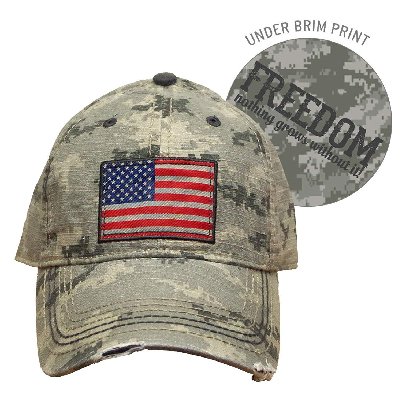 0c3974616cb Get Quotations · Farm Boy Digital Camo with American Flag Patch Velcro Hat  - F13080708CA000