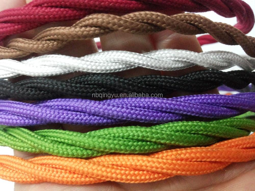 Textil Draht Verdreht Dekorative Stoff Draht Abgeschirmt Bunte ...