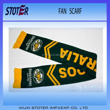 custom logo football scarf , soccer scarf