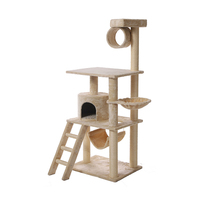 2020 New Design Plush Safety Cat Scratching Poles Condos Towers Trees House Furniture Cat Tree