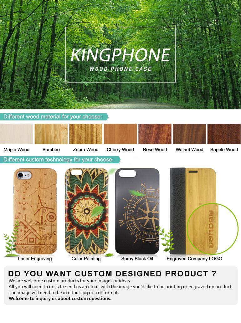 Customized Logo Mobile phone 백 cover 나무 case 대 한 iphone 7 plus/8 plus