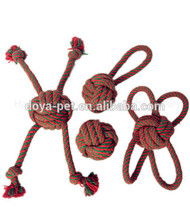 Supreme quality mini unique knotted rope pet toys in cheap price