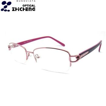 5d6def81637 women metal optical frame china wholesale halfrim optical eyeglasses frame  rhinestone eyeglass frames B50201. View larger image