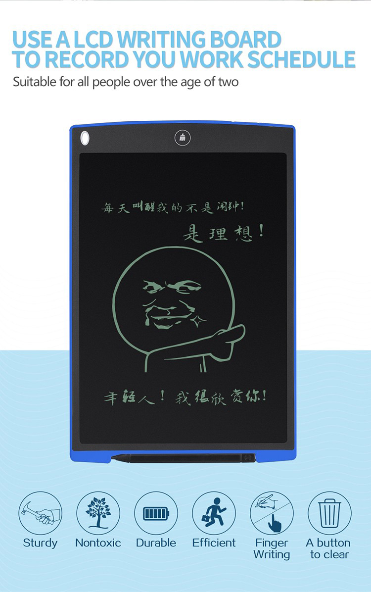 Digital writing pad 12 inch Paperless Memo Pad REVIEW LCD Writing tablet