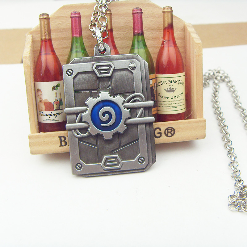 Game Hearthstone Heroes Of Warcraft Pendants Necklaces Bronze chain
