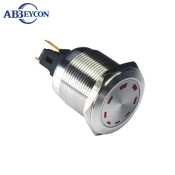 IN38 6VDC multipoint IP67 Waterproof Led push button with 22MM led indicator