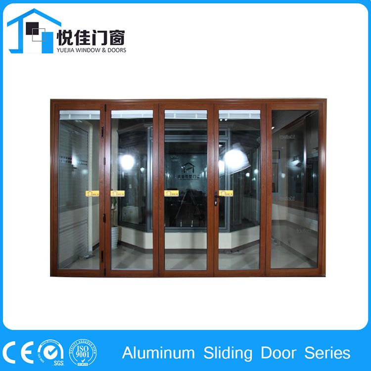 Aluminum Exterior Sliding Doors : Double tempered glass sliding aluminum alloy doors