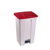 high quality PP plastic fireproof garbage can with foot pedal Restaurant dining room food rubbish waste bin