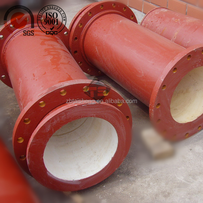customized alumina ceramic composite steel pipe for coal industry