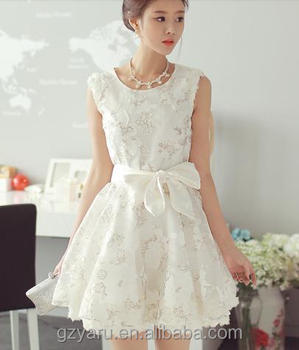 79aac0f5834b Ladies Fancy White Short Lace Dress From India - Buy Lace Dress ...