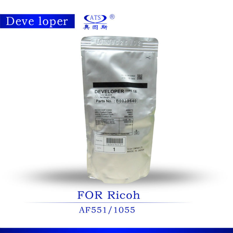 AF1075 1085 for Ricoh aficio developer powder uesd copier Made in China