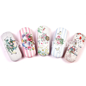 Canvas Any Color Printing Metal Glasses Case / Cloth Glasses Case