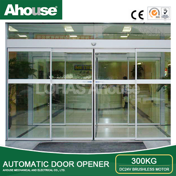 Ahouse Dc 24v Brushelesss Motor Automatic Sliding Glass Door With