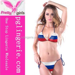 Bikini String Photos Russian Flag Sexy Women Panties Beauty A54q3RLj