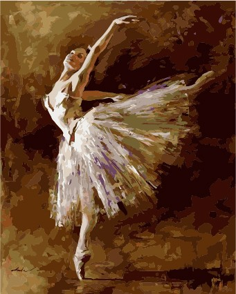 Wholesale 40*50 2.5cm frame dancing girl diy oil paint by numbers on canvas From painting factory with 3ml 5ml vacuum acrylic