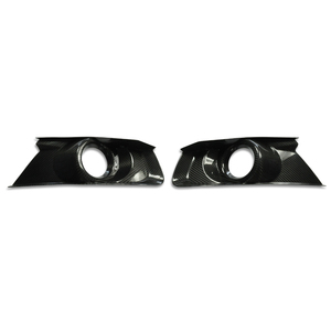 Carbon Fiber Car Fog Lamp Fog Light Cover For FORD MUSTANG 2015+