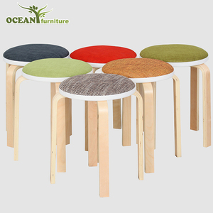 Custom durable bentwood stool wooden furniture stool