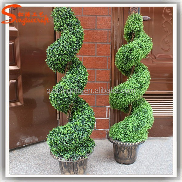 Wholesale all types of artificial ornamental plants plastic plants topiary frame