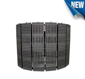 indoor ultra thin flexible led mesh scree moving led display sign video p10 rgb