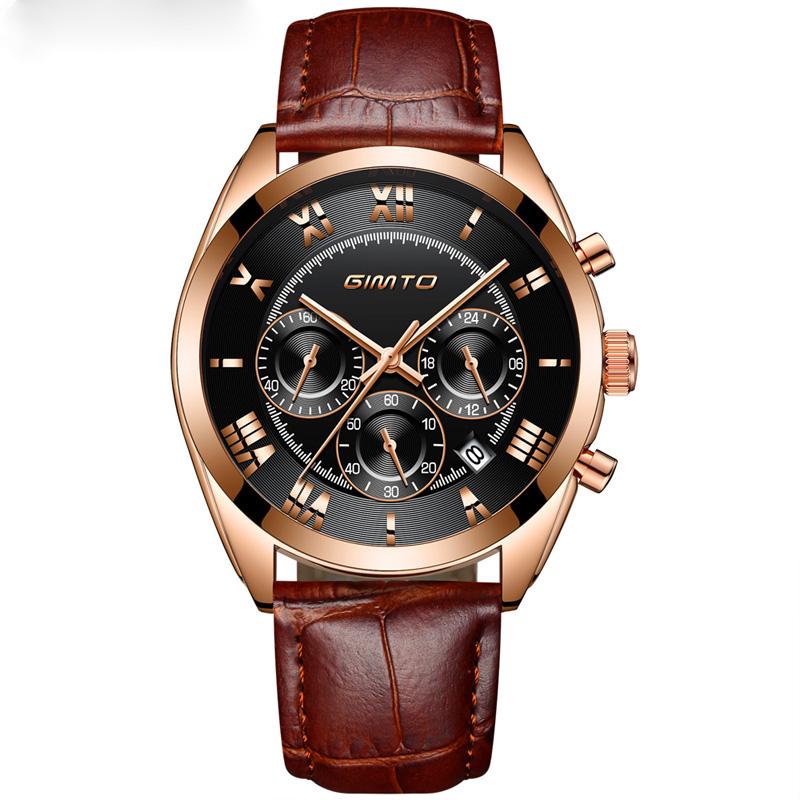 WJ-7637 New Design Fashion Watch Wholesale Simple Luxury Wristwatch GIMTO Brand Quartz Watch For Men GM60-GM247 фото