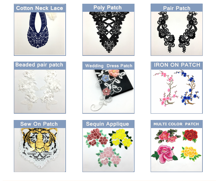 9CM OLN12957 Black elegant design chemical handwork embroidery designs garment accessories