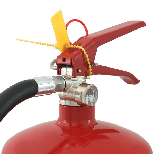 Plastic fire extinguisher tamper proof seal in seals