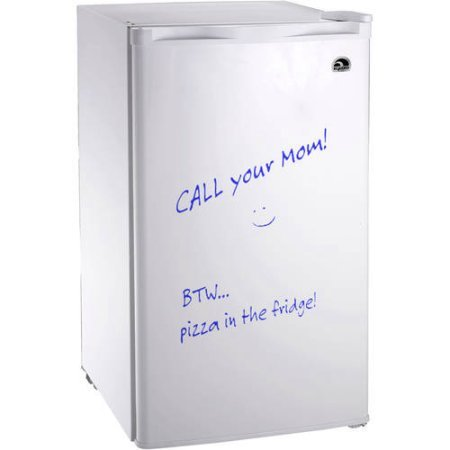 Igloo FR326-White Erase Board Refrigerator with Neon Markers, 3.2 cu. ft., White