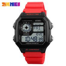 SKMEI компас обратный отсчет спортивные часы Для мужчин s часы лучший бренд класса люкс Для мужчин наручные часы Водонепроницаемый электронны...(Китай)