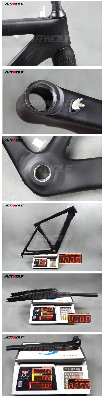 Airwolf Carbon Rennrad Rahmen Di2 Und Mechanische Rahmen Fahrrad ...