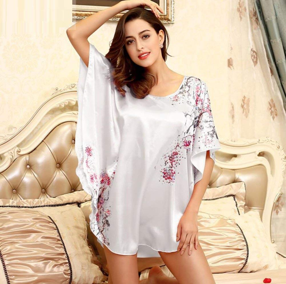 1dc11c0439 Get Quotations · GL G Ladies thin section home pajamas loose silk bath