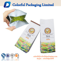 Custom Printed Plastic Foil Lined Tea Bag For Green Tea Packaging