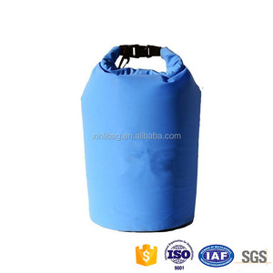 Large classic blue backpack soft dry bag camping cooler 20 liters