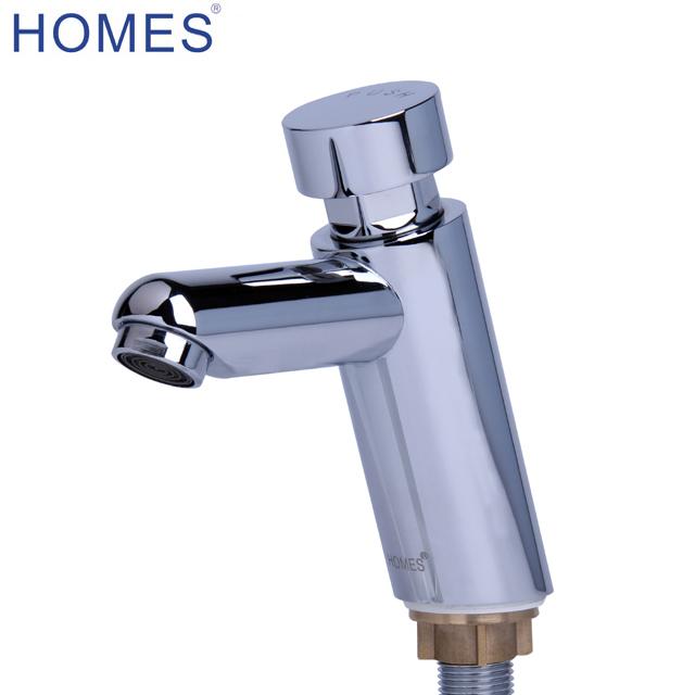 Public Delay Push Type Self Closing Saving Water Delay Faucet Bathroom Sink Tap