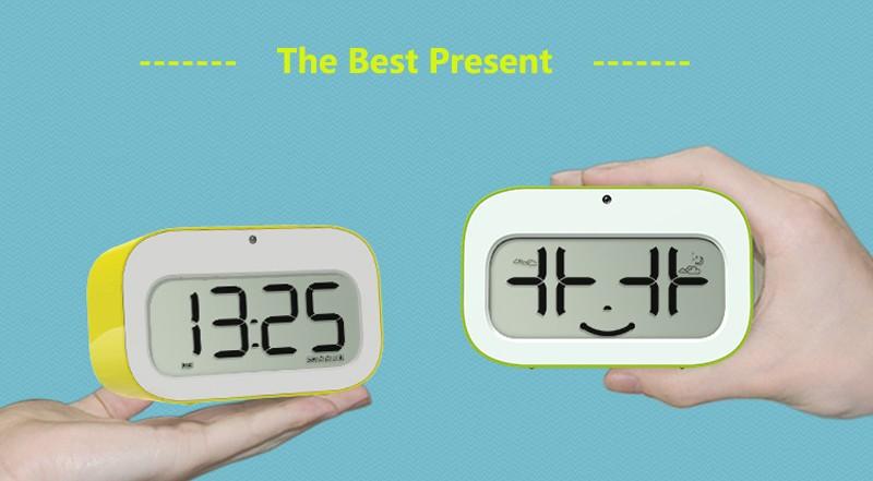 Home & Garden Clocks Led Alarm Clock Dynamic Emoji Large Led Display Electronic Snooze Smart Backlinght Desktop Digital Table Clocks Latest Fashion