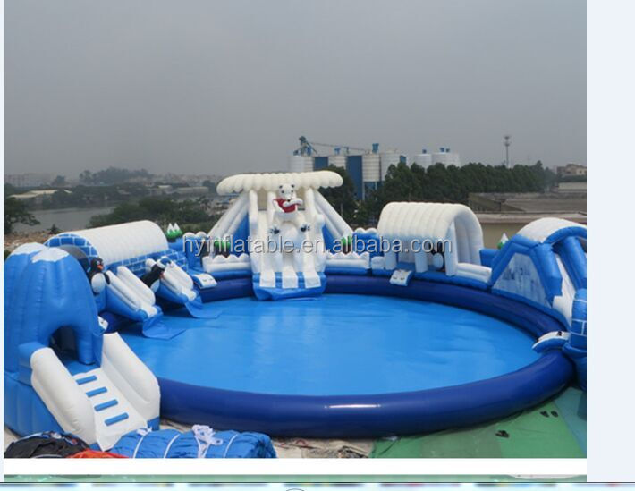 Inflatable swimming water park giant inflatable swimming pool inflatable water game equipment for sale