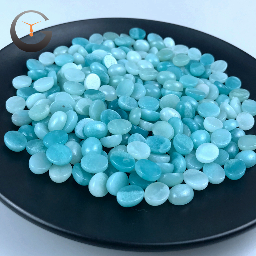 8*10mm oval shape amazonite stone cabochon factory direct sell