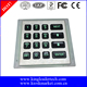 IP 65 Rated backlight 4x4 matrix stainless steel keypad