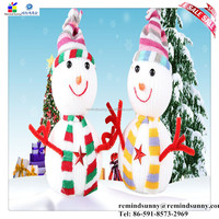Mini Christmas Promotional Gifts Colorful Snowman Doll