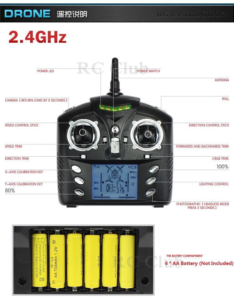 WL Toys V686G 2 4G 4CH 6 Axis Gyro FPV Monitor 2MP Camera RC Quadcopter