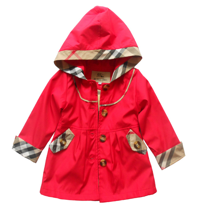 New 2015 hot-selling autumn girl's wind coat children overcoat  kids casual outwear coat free shipping