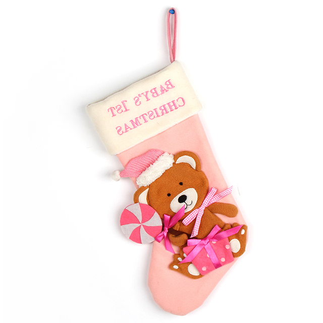 Present container christmas stocking holders