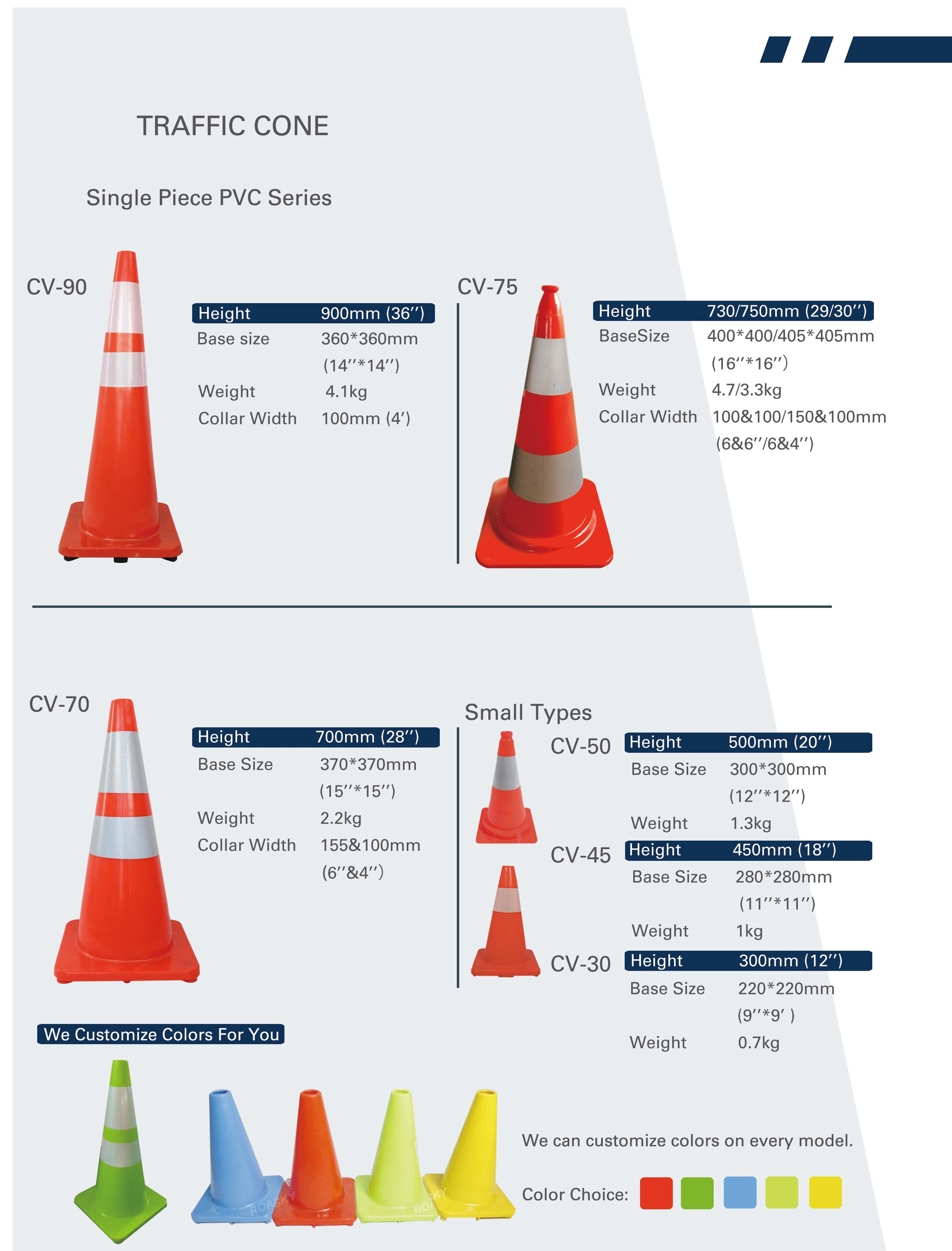 High Quality Unbreakable Folding Traffic Cone for Safety