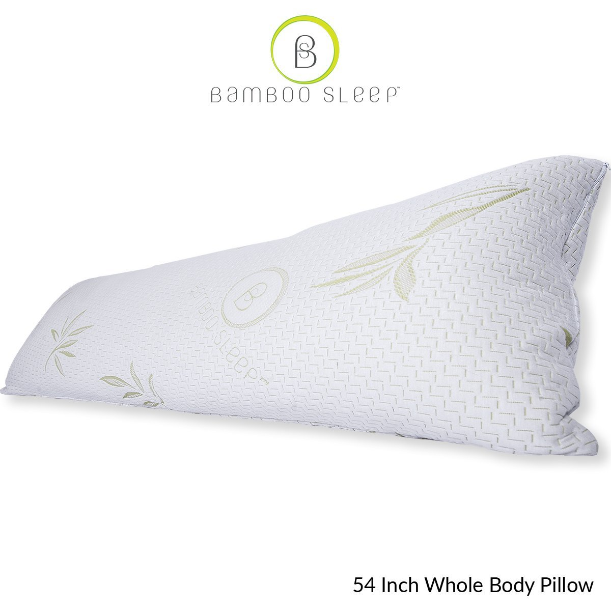Bamboo Sleep Premium Bamboo Memory Foam Pillow Set. Ultra Cool Hypoallergenic Washable Bamboo Cover USA Designed (Body)