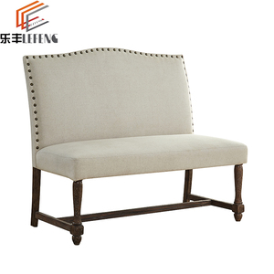 Fabric Upholstered Wooden Leisure Double Chair