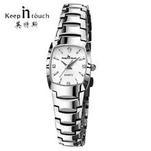 KEEP IN TOUCH квадратные женские часы со стразами кварцевые часы для женщин роскошный платье браслет женские часы reloj mujer montre femme(Китай)