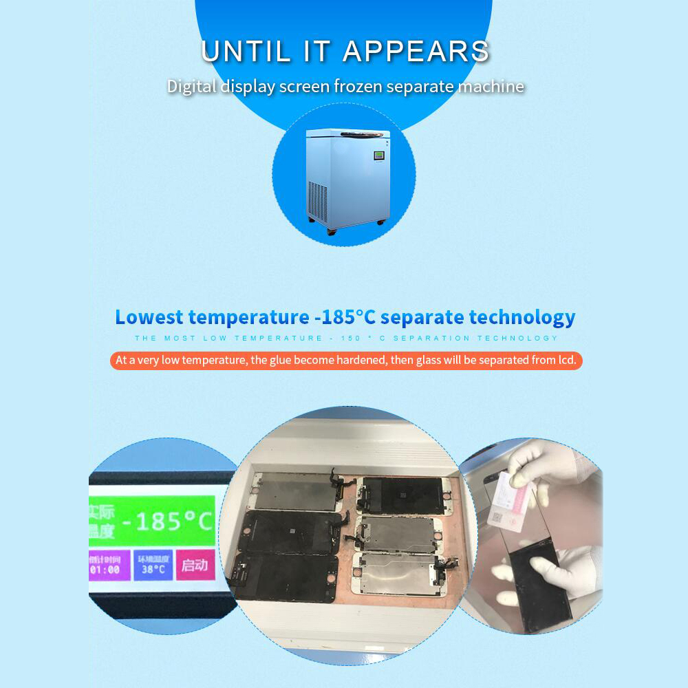 Newest -185 Degree Freeze S6/s7/s8 Edge Screen Separating Glass Glue Mobile  Freezer Lcd Separator Machine - Buy Lcd Touch Screen Glass Separator