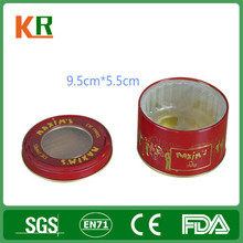 Collectable Custom Empty Metal Can Round Tin Box